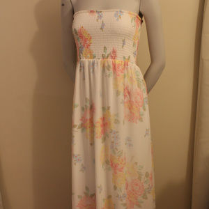 Old Navy sheer Tube Top Maxi Dress Floral